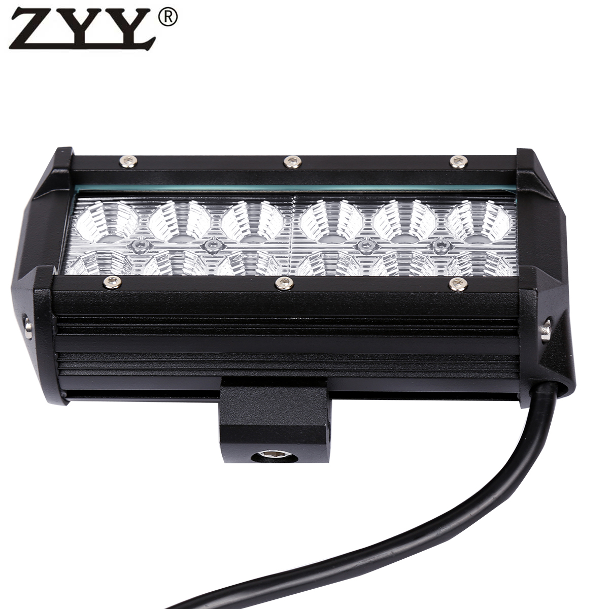 2x 7 Quot 36w 12x Cree Led Flood Beam Work Light Bar Driving