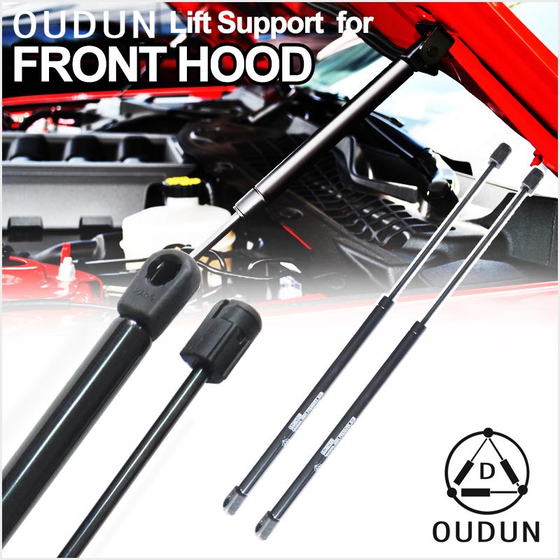 2pcs Front Hood Bonnet Gas Lift Supports Strut Shock Fit