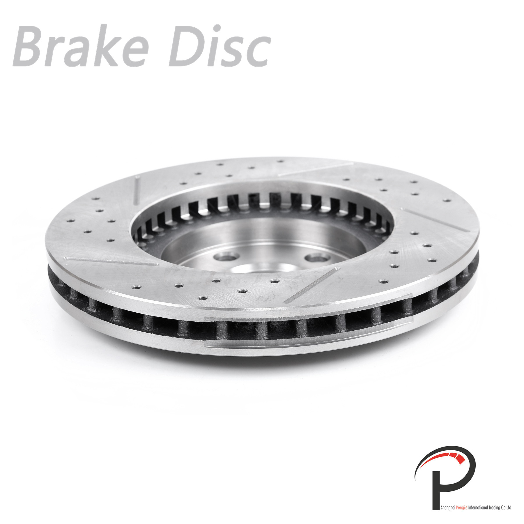 1pc Front Left Drilled Slotted Vented Brake Rotor Disc Fit Lexus 43512-53020