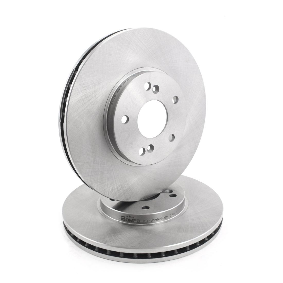 2pcs Front Grey Cast Iron Brake Disc Rotors For MDX TL TSX