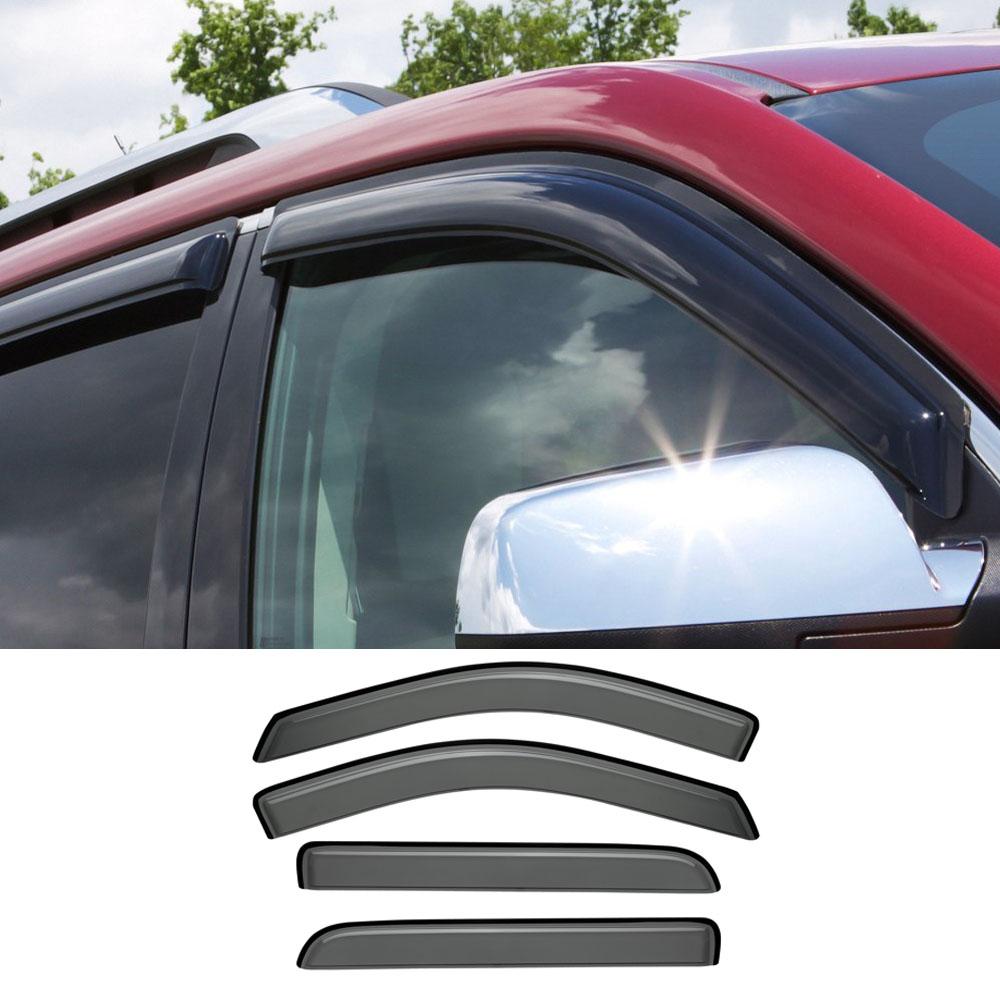 For Scion xB 2008-2015 Window Visor Sun Guard Outside Mount Light Grey 4pcs