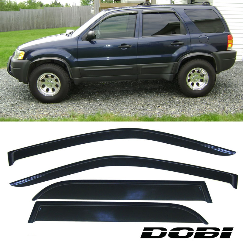 A-PADS TOP Windows Visors Rain Sun Shade Protection Guards for 1999 2000 2001 02 03 04 05 06 07 08 09 2010 11 12 13 14 15 2016 Ford F250//F350//F450 CrewCab Only