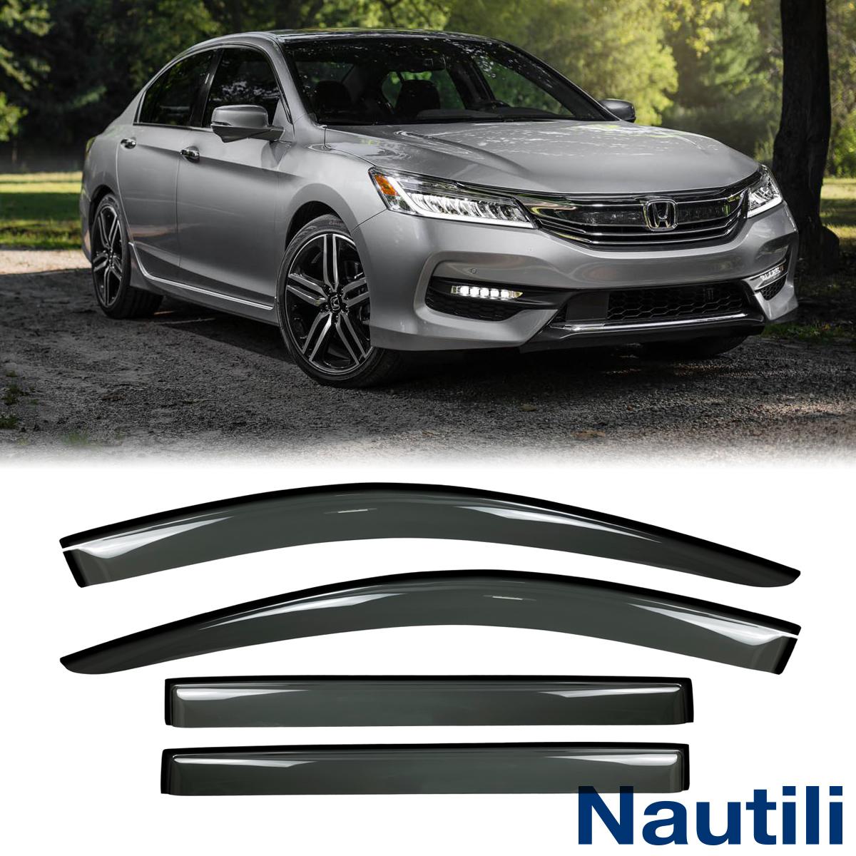 Rear Smoke Sun//Rain Guard Vent Shade Window Visors VioGi Fit 98-02 Honda Accord 4-Door Sedan 4pcs Front