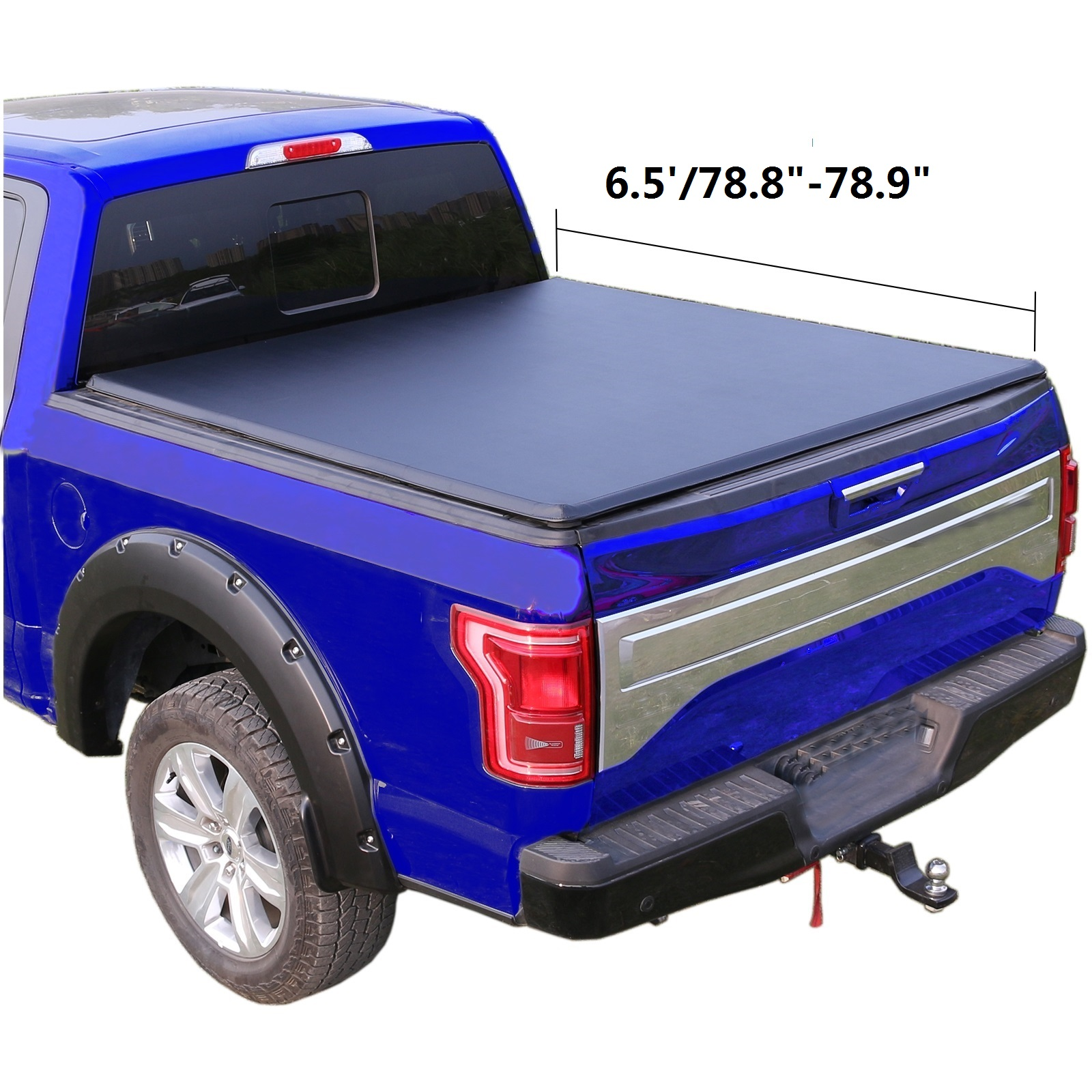 6 5 78 8 Soft Tri Fold Truck Bed For 2014 2018 Silverado Sierra