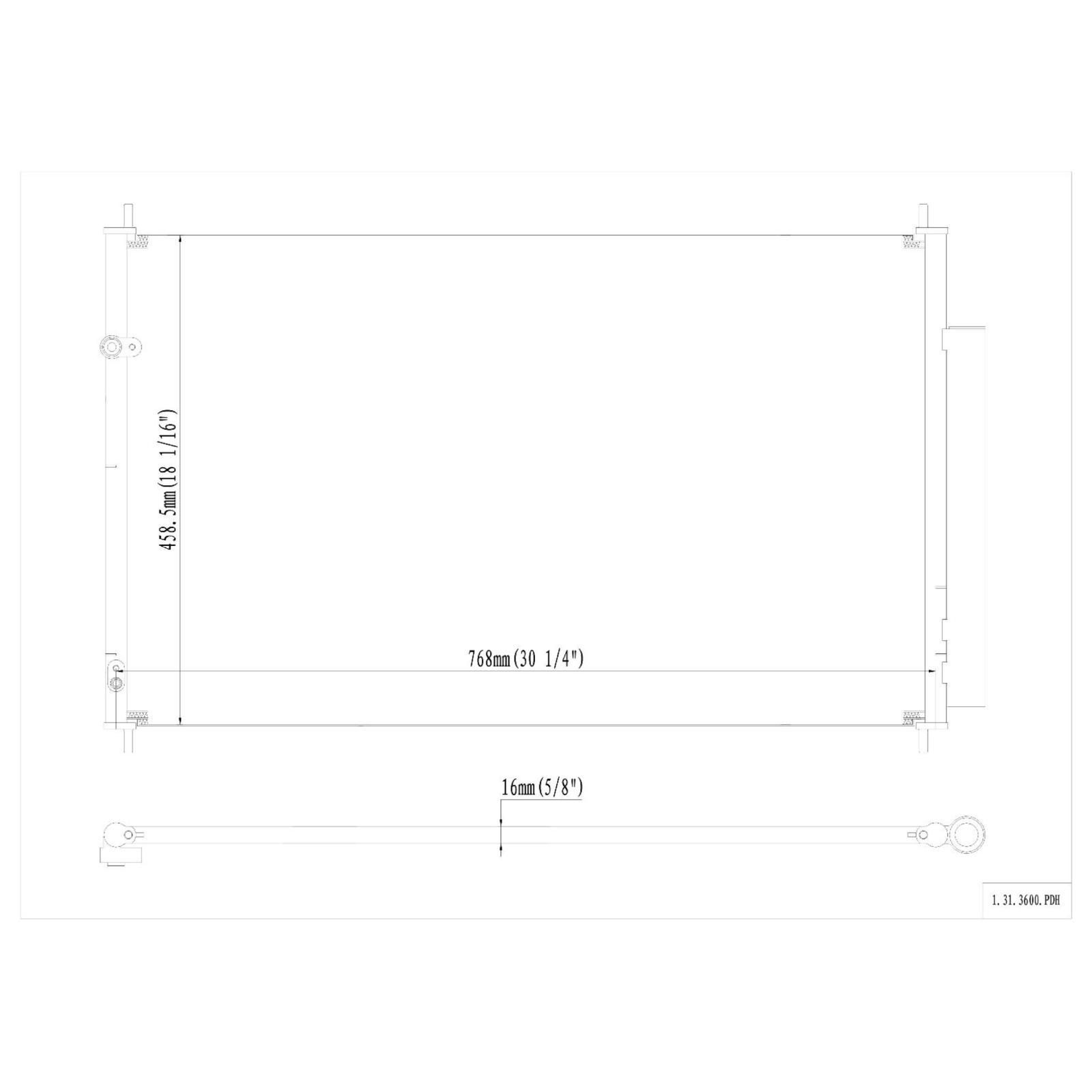 All Aluminum Condenser For 2007-2012 Acura MDX 3.7L 2010