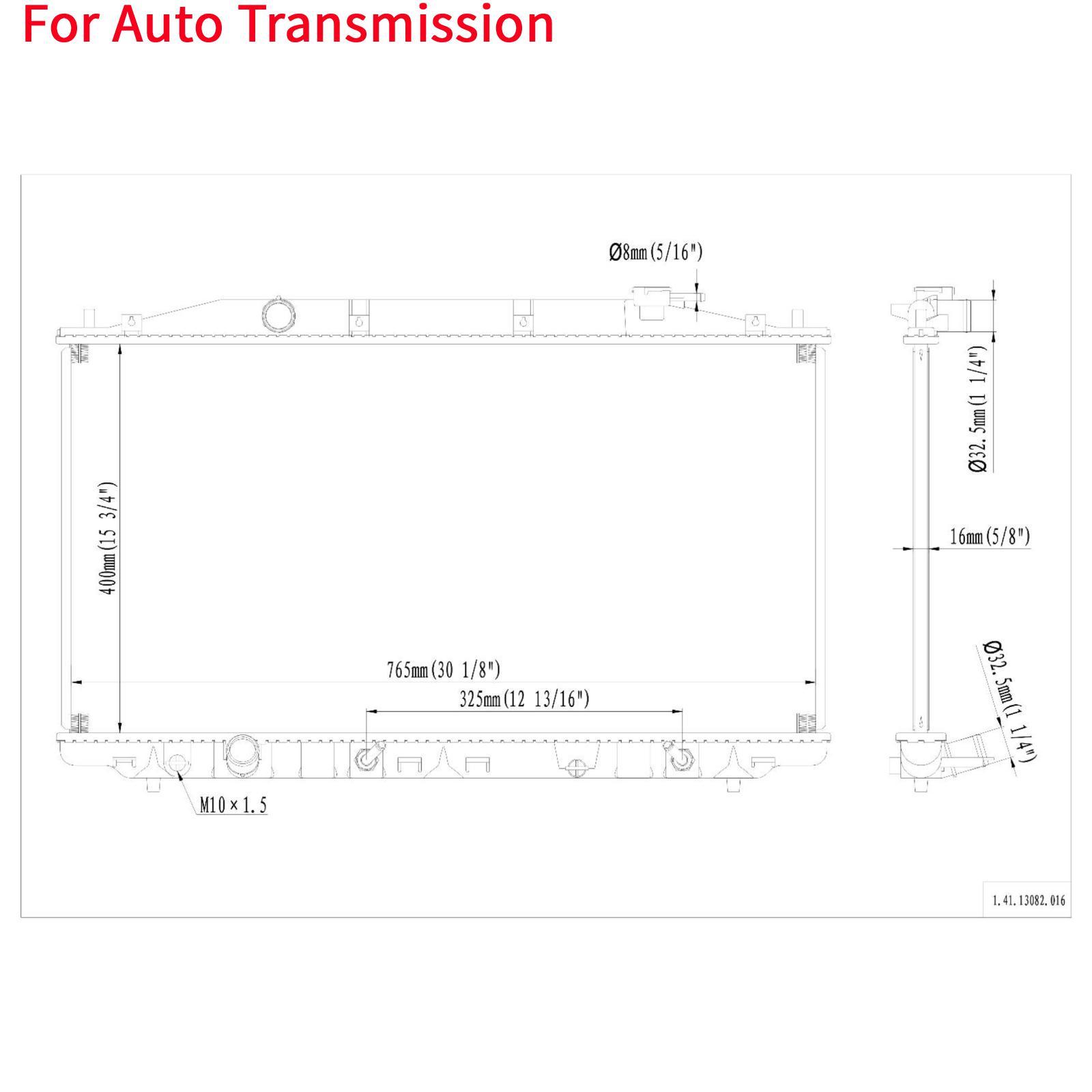 Auto Aluminum/Plastic Radiator For 2009-14 Acura TSX 2.4L
