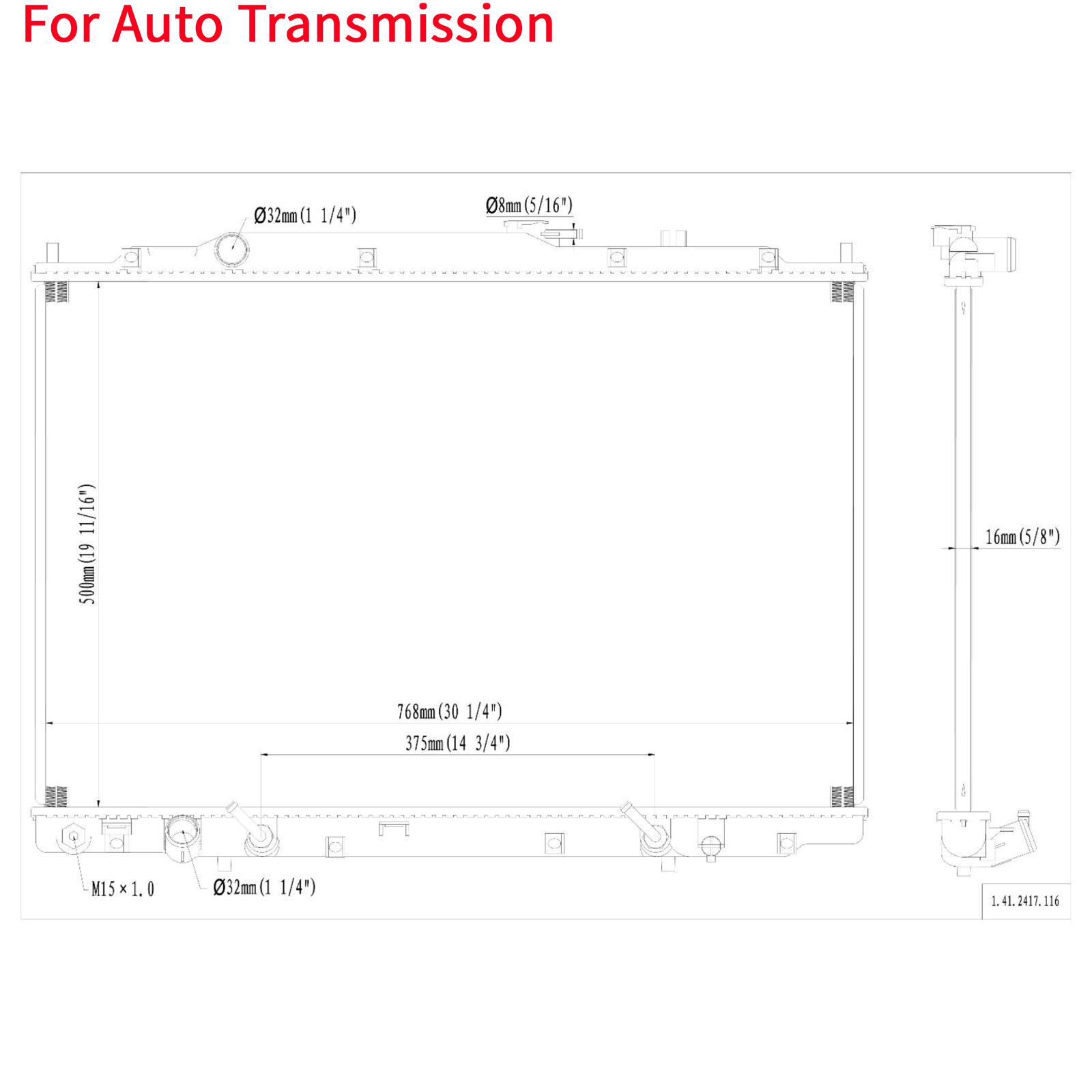 Auto Aluminum Core Radiator For 2001-02 Acura MDX 3.5L