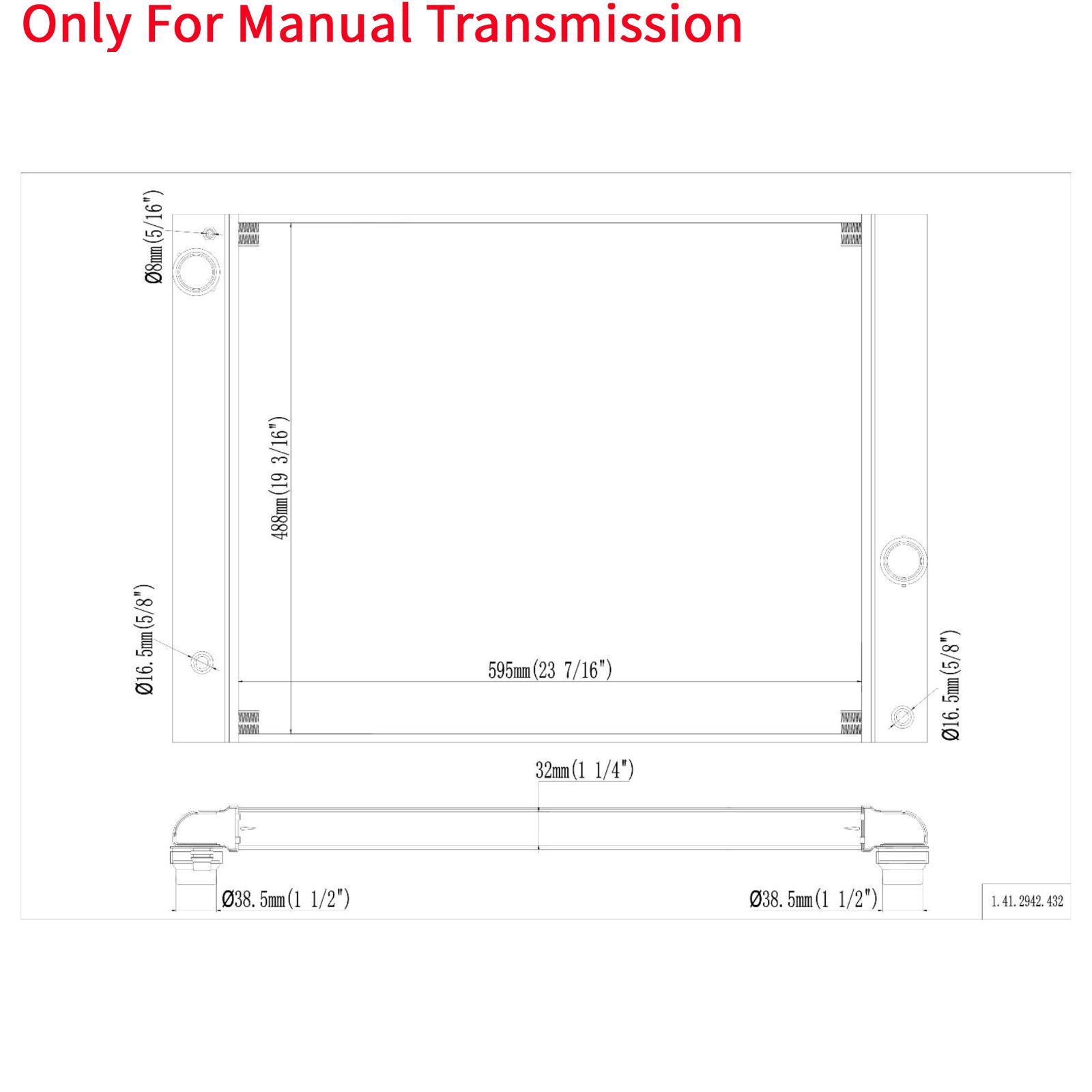 Manual Al Radiator For BMW 525i 525xi 528i 528xi 530i